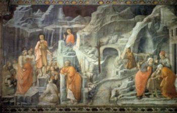 Filippo Lippi Św. Jan żegna się z rodzicami