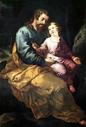 Francisco Herrera Św. Józef z Dzieciątkiem Jezus