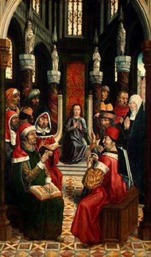 Nieznany Mistrz Chrystus wśród doktorów