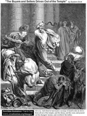Gustave Doré Wypędzenie kupców ze świątyni