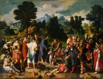Lucas van Leyden Chrystus uzdrawia ślepego