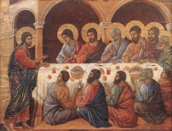 Duccio di Buoninsegna Jezus objawia się Apostołom
