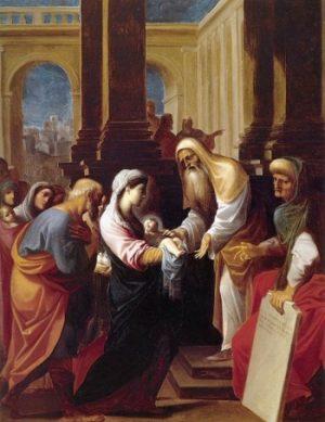 Lodovico Carraci Ofiarowanie w Świątyni