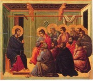 Duccio di Buoninsegna Chrystus żegna się z Apostołami
