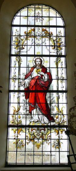 Fronhofen Witraż Serce Jezusa