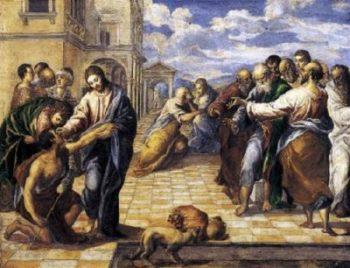 El Greco Chrystus uzdrawia ślepego