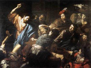 Valentin Jezus wypędza kupców ze świątyni