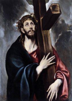 El Greco Chrystus dźwigający krzyż (detal)