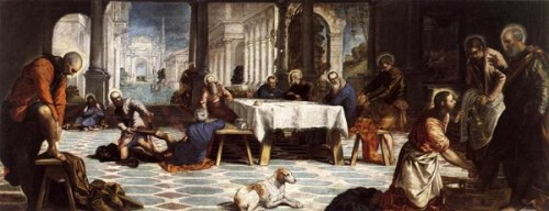 Tintoretto Umycie nóg