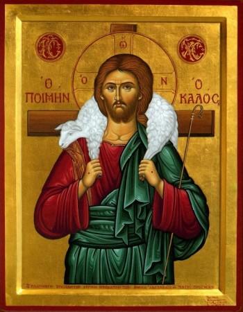 Chrystus Dobry Pasterz Ikona Grecja