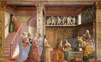Domenico Ghirlandaio Narodziny Maryi