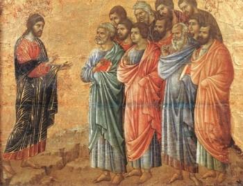 Duccio di Buoninsegna Objawienie w Galilei
