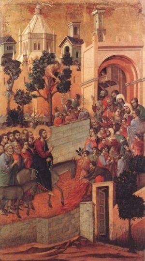Duccio di Buoninsegna Wjazd do Jerozolimy