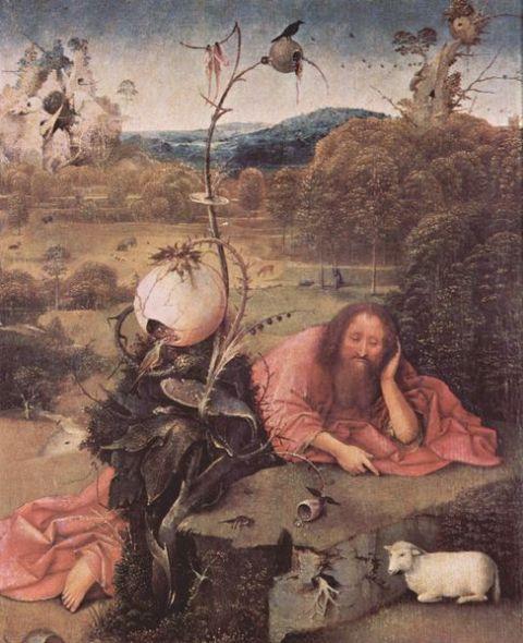 Hieronim Bosch Św. Jan Chrzciciel na pustkowiu