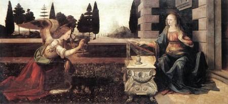 Leonardo da Vinci Zwiastowanie