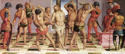 Luca Signorelli Biczowanie Jezusa