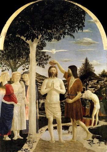 Piero della Francesca Chrzest Chrystusa