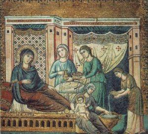 Pietro Cavallini Narodziny Dziewicy Maryi