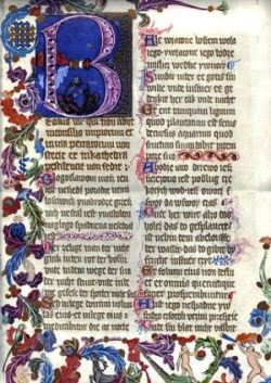 Karta z Psałterza Floriańskiego Psalm 1