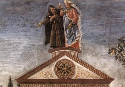 Sandro Botticelli Trzy pokusy Jezusa (detal)