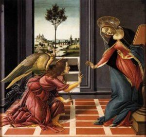 Sandro Botticelli Zwiastowanie.