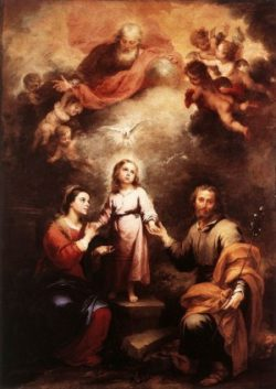 Bartolomé Esteban Murillo Święta Rodzina i Trójca Święta