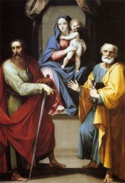 Giuseppe Cesari Madonna z dzieciątkiem oraz Święci Piotr i Paweł