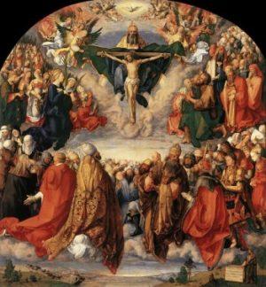 Albrecht Dürer - Adoracja Trójcy Świętej