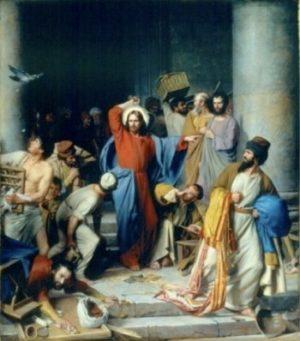 Carl H. Bloch Jezus wypędza kupców ze świątyni