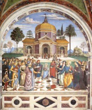 Pinturiccio Chrystus wśród doktorów