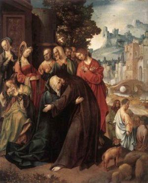Cornelis Engebrechtsz Chrystus żegnający się z Matką