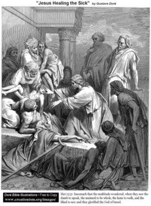 Gustave Doré Jezus uzdrawia chorych
