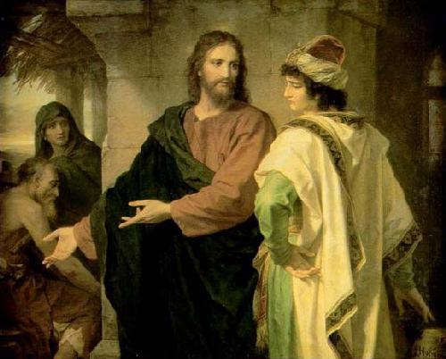Hainrich Hofmann Chrystus i bogaty młodzieniec
