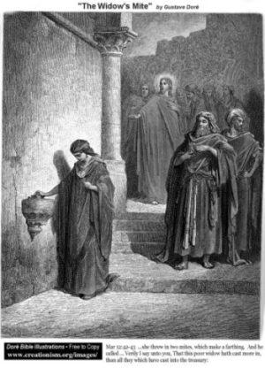 Gustave Doré Wdowi grosz