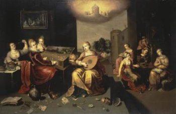Hieronim Francken Przypowieść o pannach mądrych i głupich