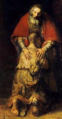 Rembrandt Powrót syna marnotrawnego (detal)