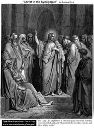 Gustave Doré Chrystus w Synagodze