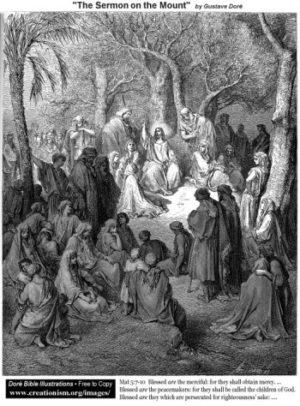 Gustave Doré Kazanie na Górze