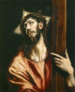 El Greco Chrystus piastuje Krzyż