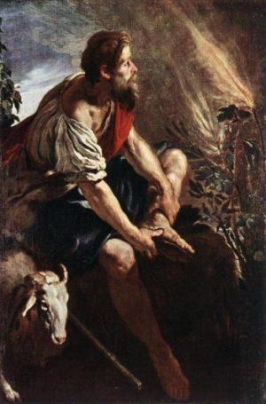 Domenico Feti Mojżesz i krzak ognisty