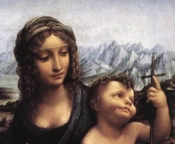 Leonardo da Vinci Madonna z kądzielą