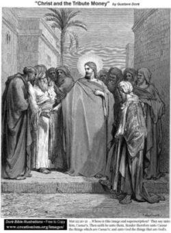 Gustave Doré Jezus o podatkach