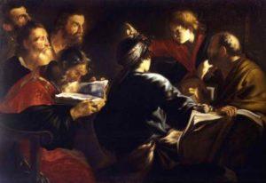 Giovanni Serodine Chrystus wśród doktorów