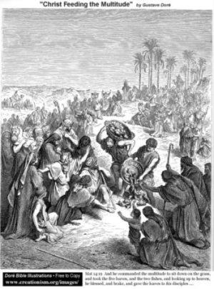 Gustave Doré Jezus karmi tłumy