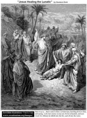 Gustave Doré Uzdrowienie obłąkanego
