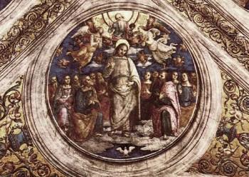 Pietro Perugino Trójca Święta i Apostołowie