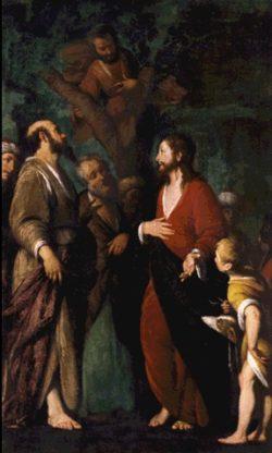 Bernardo Strozzi Nawrócenie Zacheusza