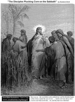 Gustave Doré Łuskanie kłosów w Szabat