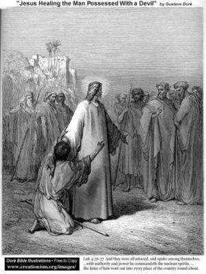 Gustave Doré Jezus uzdrawia opętanego