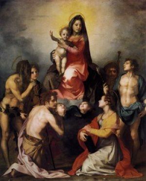 Andrea del Sarto Dziewica w glorii